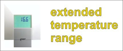 Extended temperature range for interior transmitters